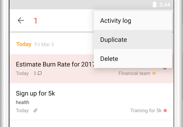 Duplicate one or more tasks – Todoist Help