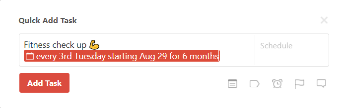 Set a recurring due date – Todoist Help