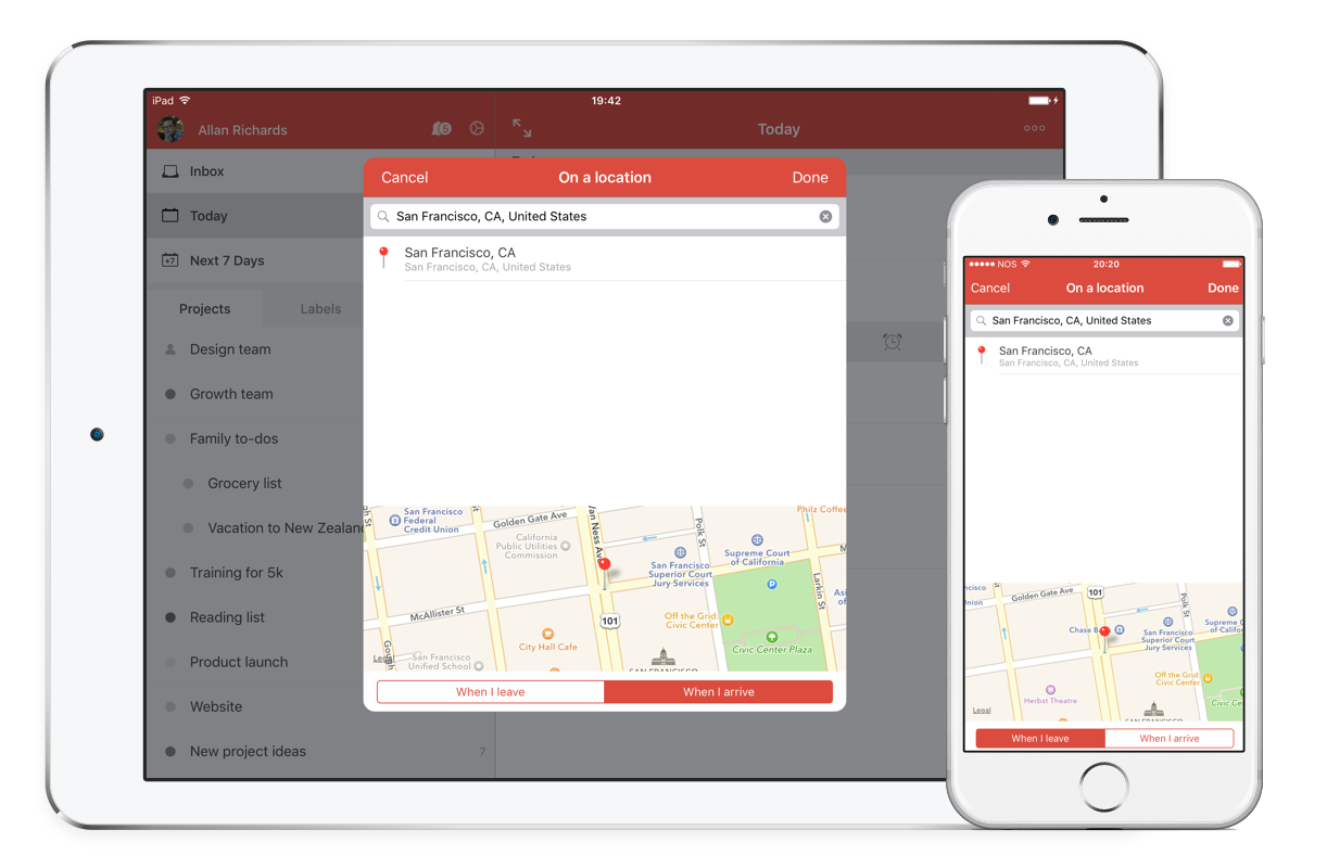 Apple Maps + Todoist